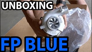 homepage tile video photo for Unboxing NEW Forced Performance FP Blue HTZ Turbo for my WRX STi