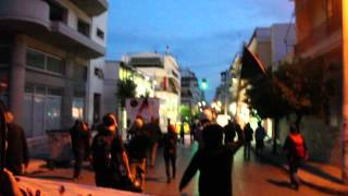 Riot police crackdown on antifascist march in memory of Pavlos Fyssas