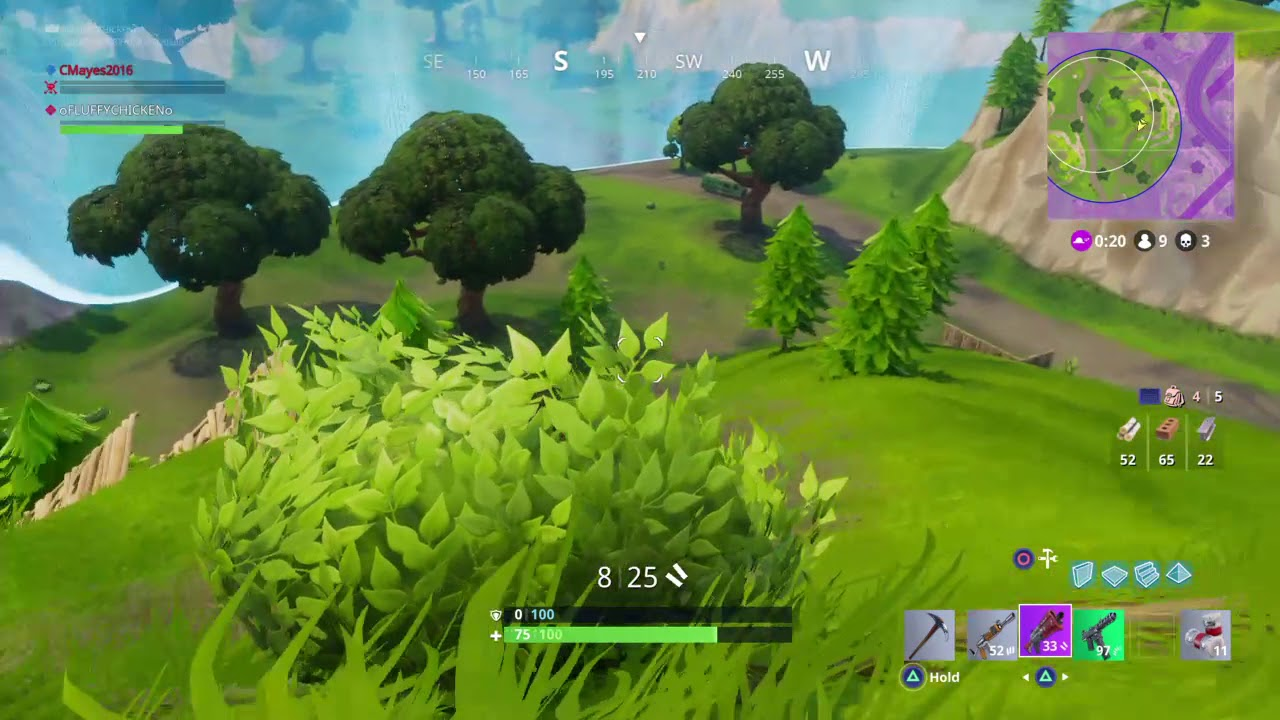 Fortnite Hiding In A Bush Part 2 Youtube