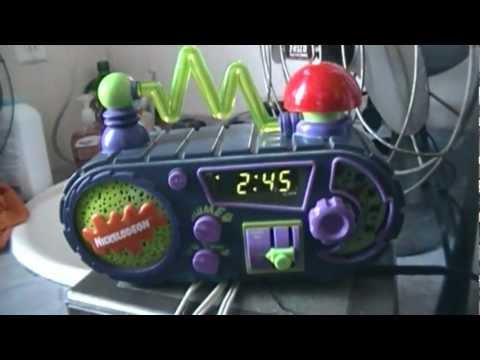 Nickelodeon TimeBlaster Clock Radio Model N2000