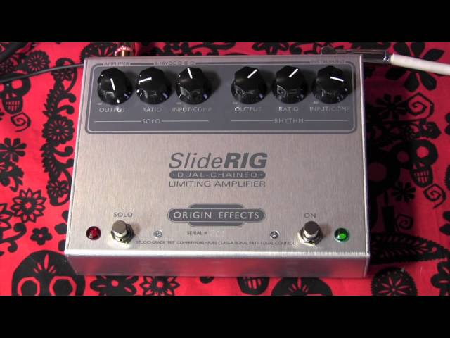 Origin Effects SLIDE RIG dual channel limiter pedal demo with RS Guitarworks Tele
