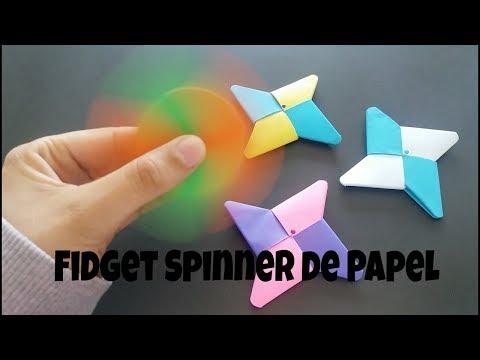 Como fazer um Origami   Hand Spinner - Diy Fidget Spinner de Papel - Origami - Life Hacks Hand Spinn