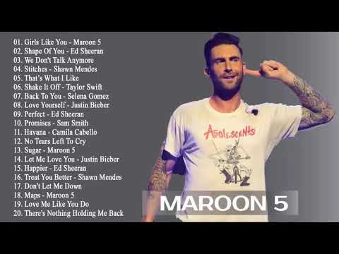 รวมเพลงสากล Maroon 5 เพลงสากลฮิต มาแรง ฟังเพลงเวลาทำงาน 24 ชั่วโมง