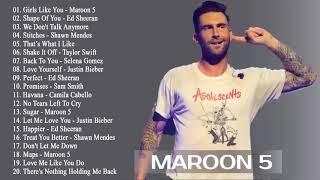 รวมเพลงสากล Maroon 5 เพลงสากลฮิต มาแรง ฟังเพลงเวลาทำงาน 24 ชั่วโมง HD