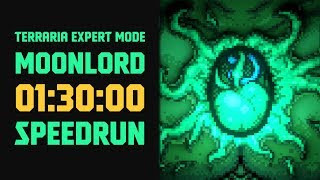 Terraria   Expert Mode Speedrun Moonlord In 90 Minutes No Major Glitches