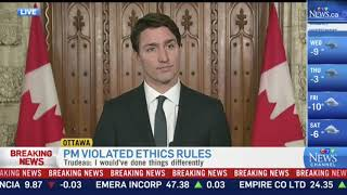 Trudeau responds to ruling that he broke ethics law in Aga Khan island vacation