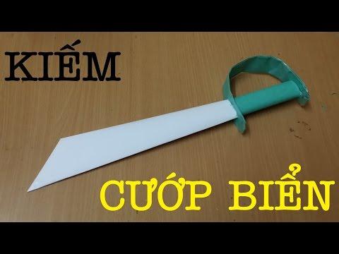 Làm kiếm giấy kiểu Cướp Biển - Vũ khí đồ chơi