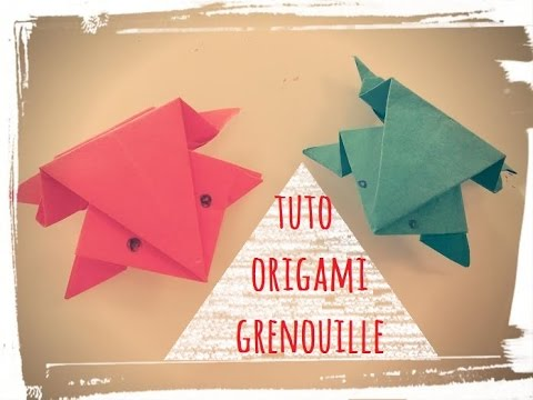 Origami grenouille papier facile youtube - Video d origami facile ...