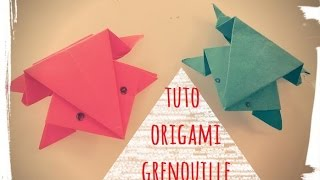 origami - grenouille papier facile