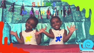 Making Slime with Zari and Winter! COLOR MASHUP