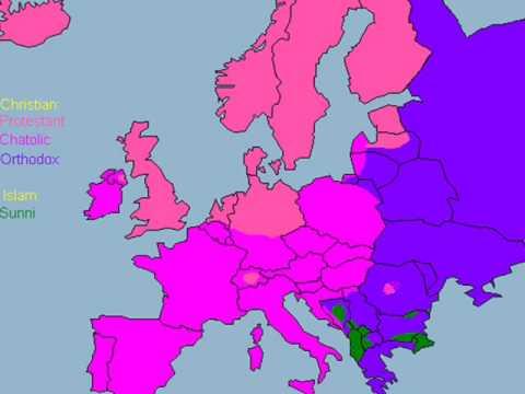 Religion Of Europe Map YouTube - Europe religion map