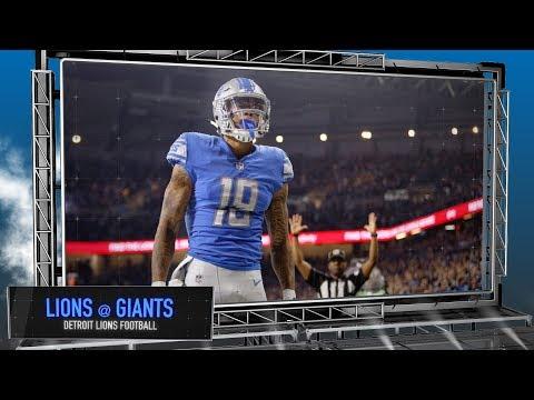Detroit Lions vs. New York Giants - Lions Football Preview Show