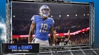 Detroit Lions vs. New York Giants - Lions Football Preview Show thumbnail
