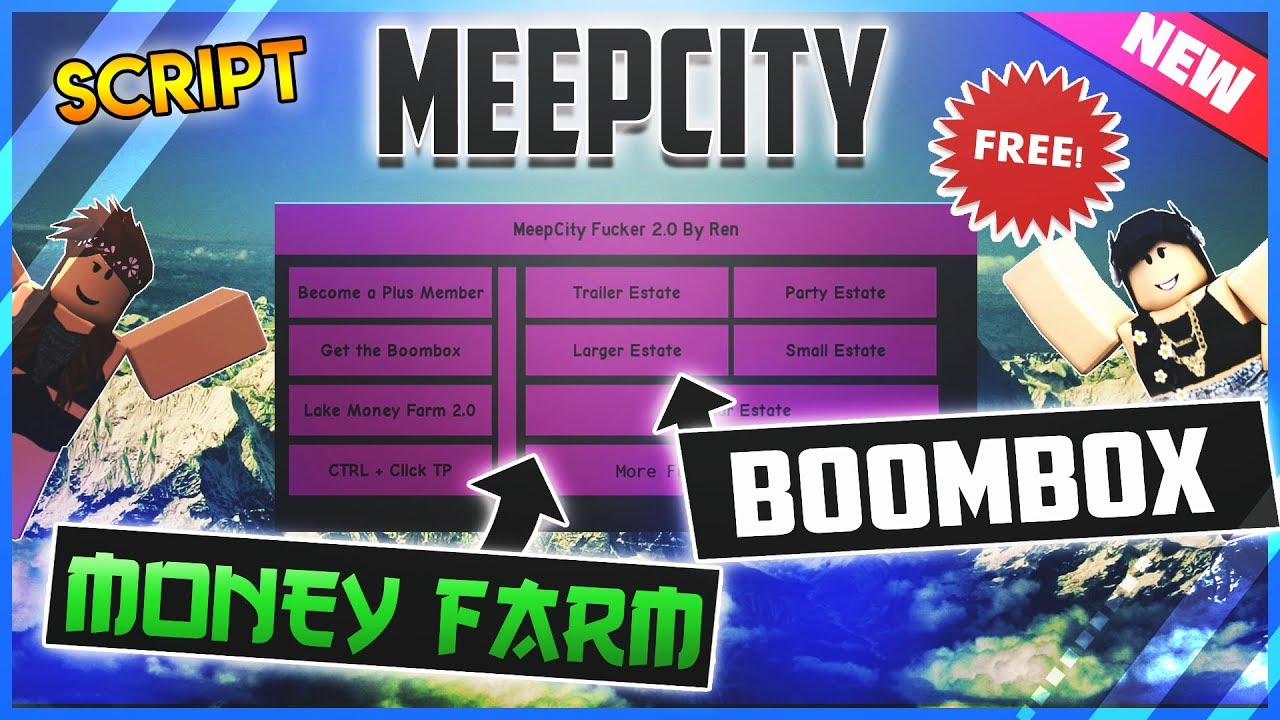 New Roblox Hack Script Meepcity Money Farm Become Plus