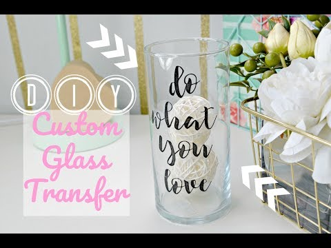 Dollar Tree DIY: Custom Glass Labels (Office/Room Decor Tape Transfer!)