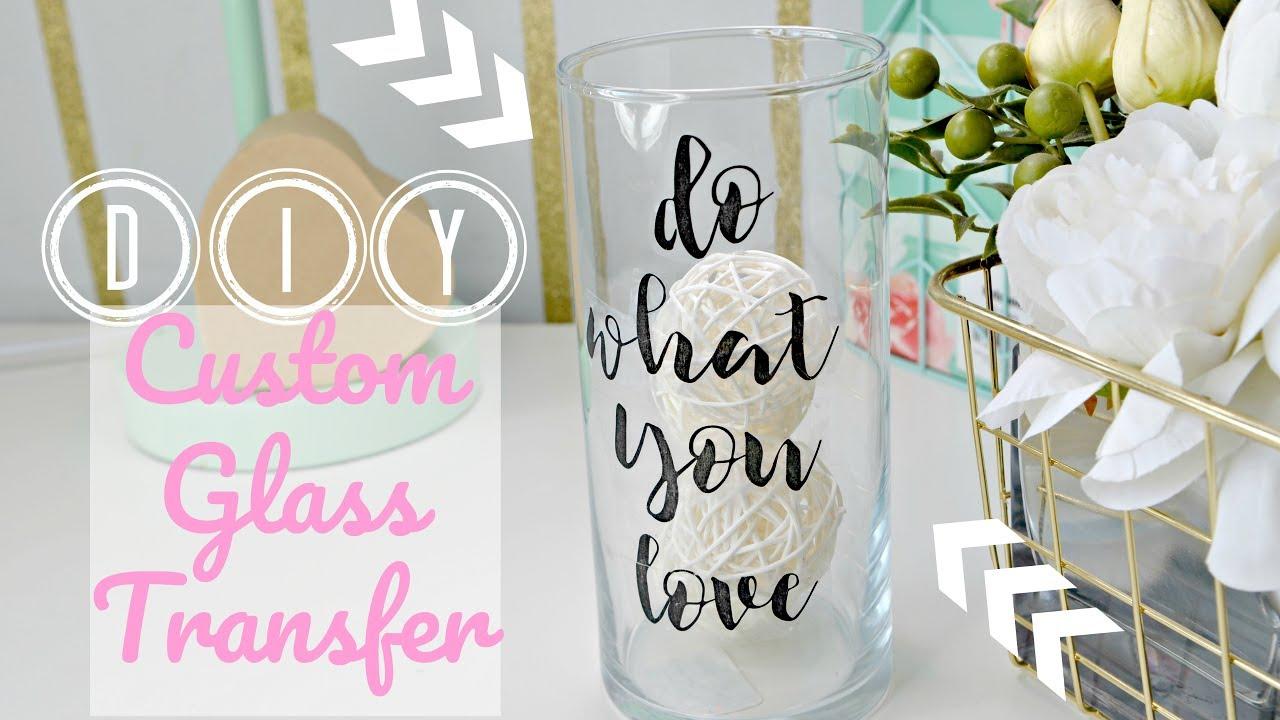 Dollar tree diy custom glass labels office room decor tape transfer