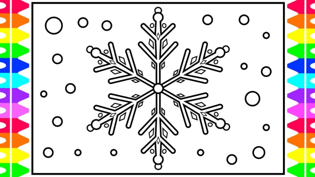 How to Draw a Snowflake Easy 💙Glitter Snowflake Drawing ...