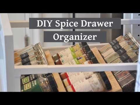DIY Spice Drawer Organizer / Spice Rack Drawer Insert | Kitchen Organization