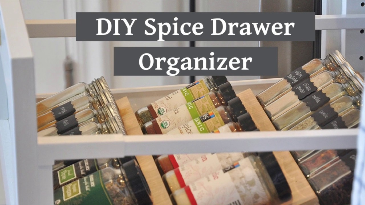 diy spice drawer organizer spice rack drawer insert kitchen organization