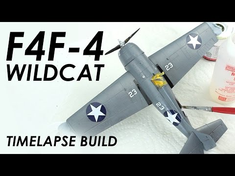 Airfix F4F-4 Wildcat Build & Review - 1:72 Scale Model