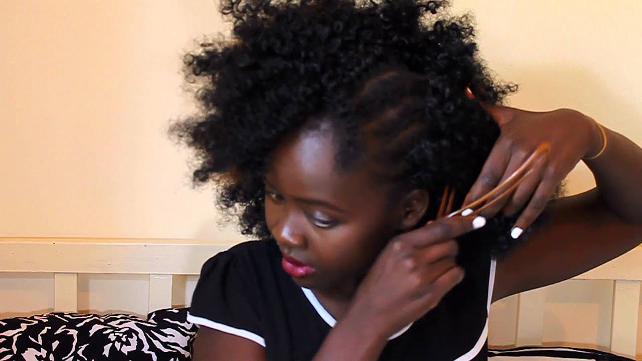 Afro crochet braids using vibrations hair - YouTube