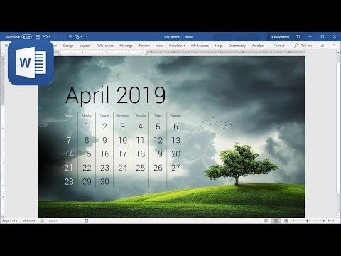 How to create Calendar in Microsoft Word (Tutorial)