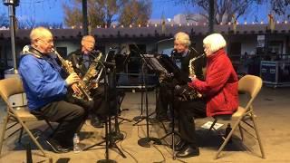 Lighting Of The Trees Ceremony 2017 Santa Fe, NM Plaza - High Desert Saxophone Quartet Clip 3