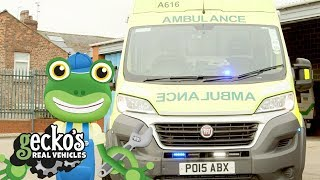 Gecko And The Big Ambulance Gecko's Real Vehicles | Real Vehicles For Kids | Learning For Kids