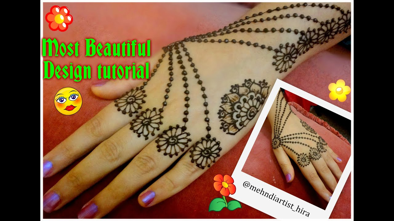 Mehndi Henna Buy : Easy diy beautiful henna mehndi jewellery inspired design tutorial