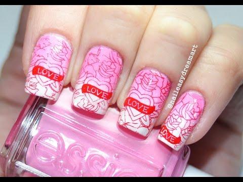 ♥ Valentine's Day Nail Art ♥ Маникюр на День Святого Валентина