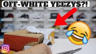 I BOUGHT FAKE YEEZY OFF WHITE SHOES ON