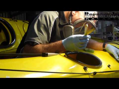 How to repair a deep scratch on your vacuum thermo formed Barracuda Kayak | with Gordon Robinson