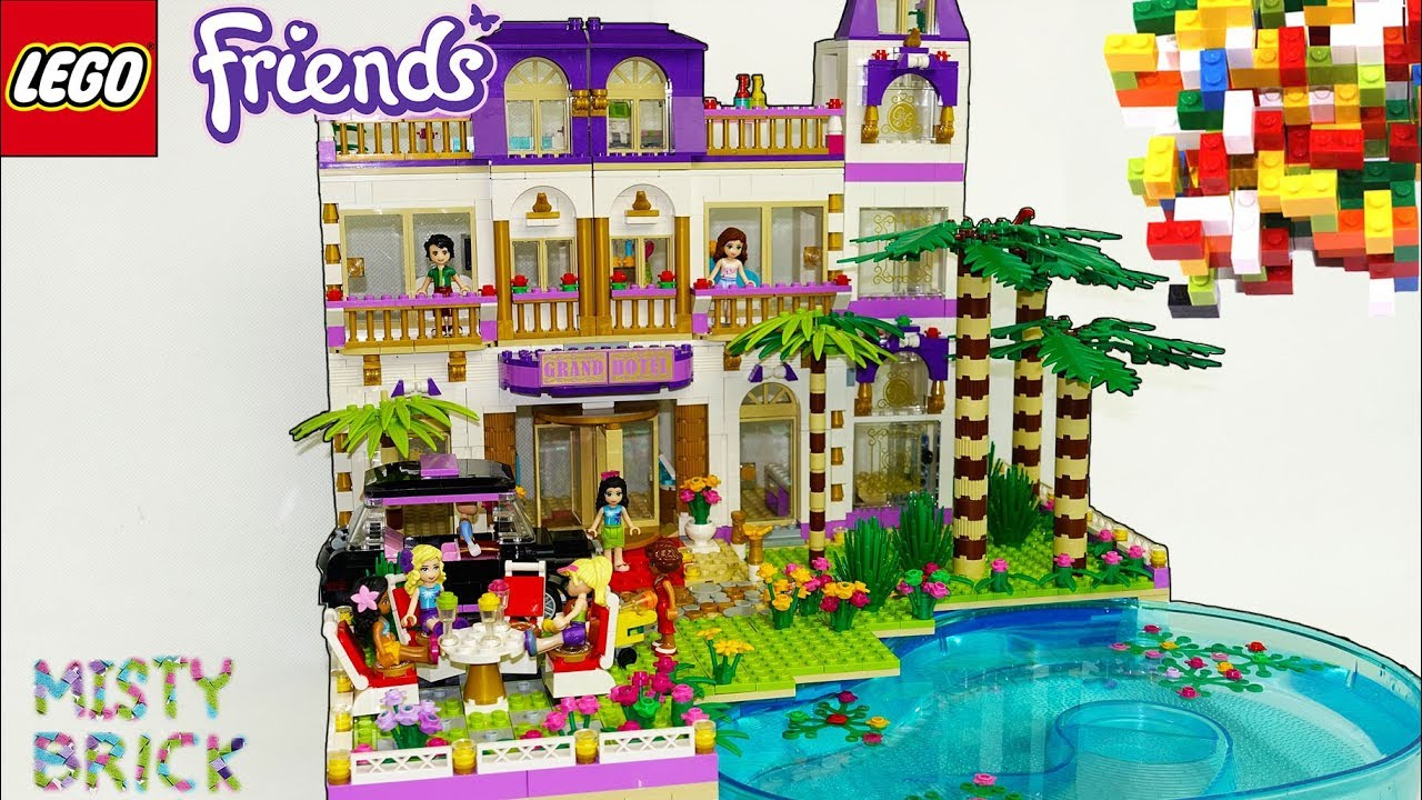 Lego Friends Grand Hotel Extensions And Lake By Misty Brick Youtube