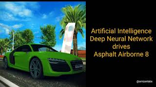 How did Artificial Intelligence (AI) win the Asphalt Airborne 8 Barcelona Track?