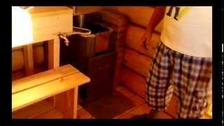 Баня под ключ Казань # Проект 3х3(Закончили строительство небольшой бани из сруба 3х3 к срубу пристроили уютный предбанник и небольшой сарай..., 2015-07-09T10:53:54.000Z)