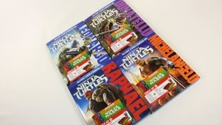 TMNT 2014 Movie Target Exclusive Blu Ray Disc Set Review