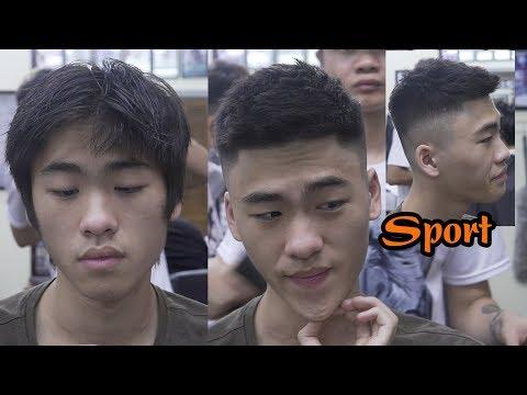 Hướng dẫn cắt kiểu tóc sport ngắn vuốt rối nam tính đẹp trai in TUONGBARBER