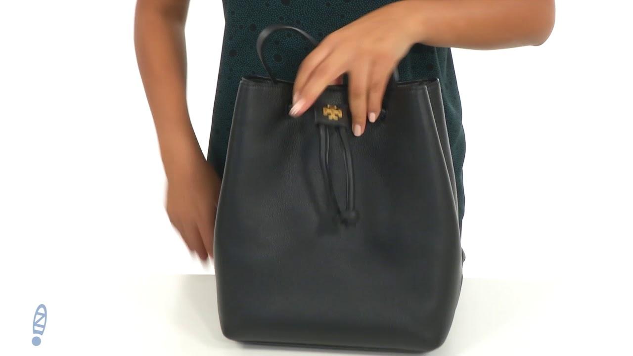 a08088e08e7 Tory Burch Georgia Pebbled Backpack SKU  8976697 - YouTube