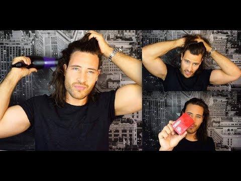 Haarstyling TUTORIAL für Männer - mit langen Haaren