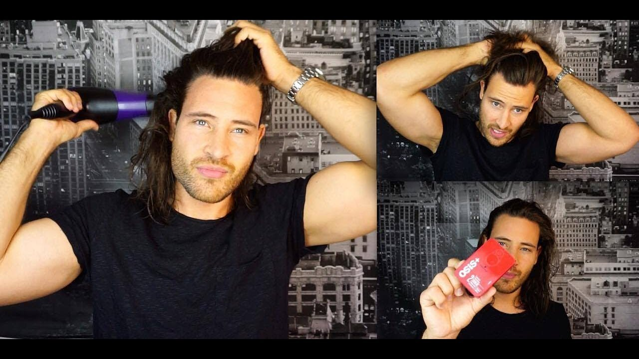 Haarstyling Tutorial Für Männer Mit Langen Haaren Youtube