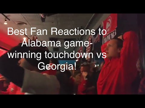 Best Fan Reactions to Alabama game-winning touchdown vs Georgia! (2018 National Championship)