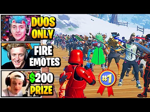 Streamers Host 100 PLAYER Duo SKIN & EMOTE CONTEST | Fortnite Daily Funny Moments Ep.513