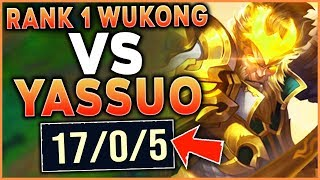 Download YASSUO GETS SMASHED BY THE RANK 1 WUKONG WORLD (HE GOT TILTED) - League of Legends Mp3 and Videos