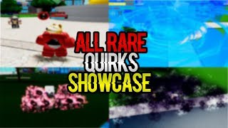 [NEW CODE!] EVERY RARE QUIRKS SHOWCASE IN BOKU NO ROBLOX:REMASTERED