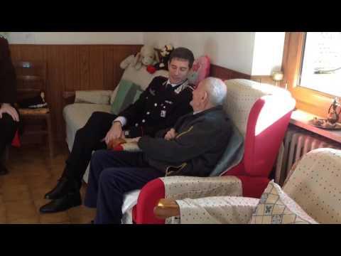 PRASCORSANO - l'appuntato Quinto Buffo compie 104 anni