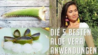 Aloe Vera Gel Schaum Anti-Aging | Haarausfall stoppen  - 5 beste Anwendungen selber machen