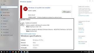 Fix All Windows 10 1803 Download & Install Errors (100% Works)