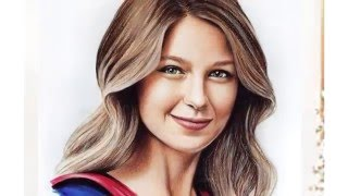 Melissa Benoist   Supergirl / Супергерл портрет pencil portrait