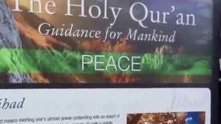 Islam Ahmadiyya Message of Peace Book stall NY USA