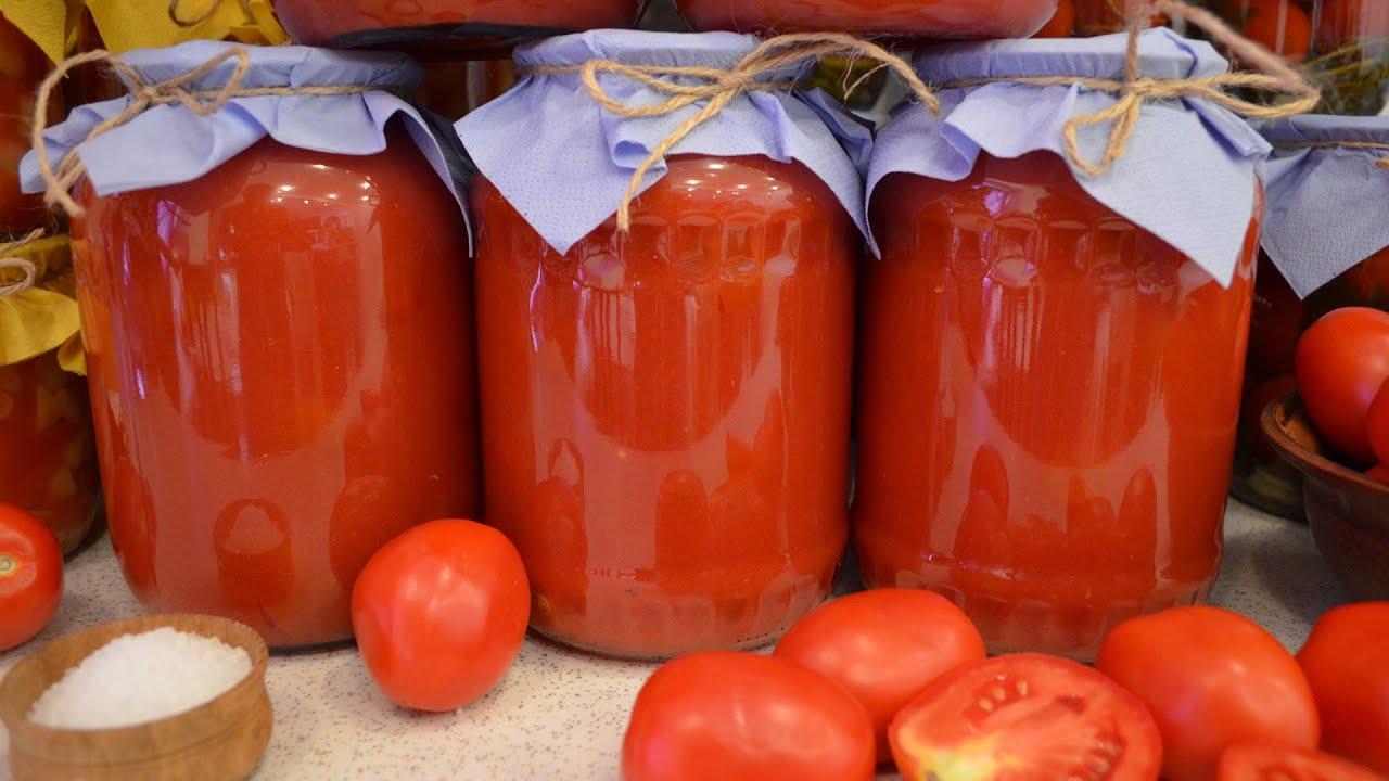 помидоры в томатном соке на зиму рецепт с фото
